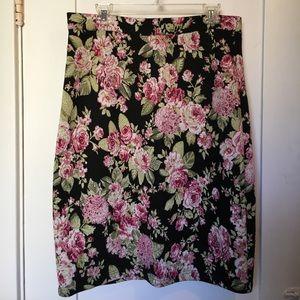 Maeve Floral Jacquard Pencil Skirt